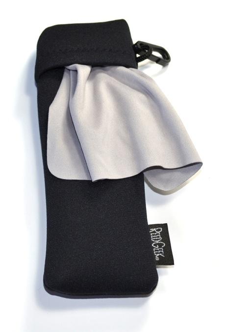 ReedGeek Black Neoprene Bag with Micro-Fiber Cleaning Cloth